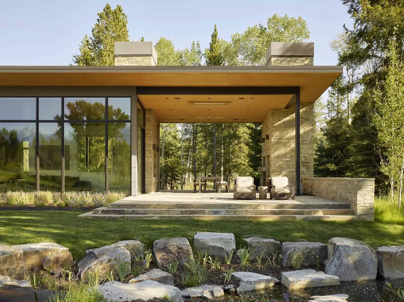 Warm and inviting mountain refuge boasts outstanding views of the Tetons