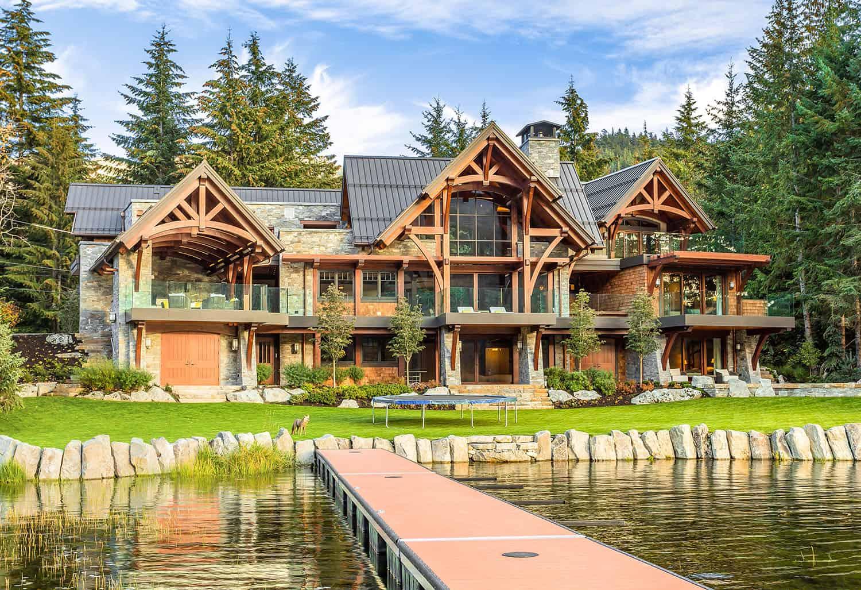 Modern timber frame home in Whistler designed for entertaining