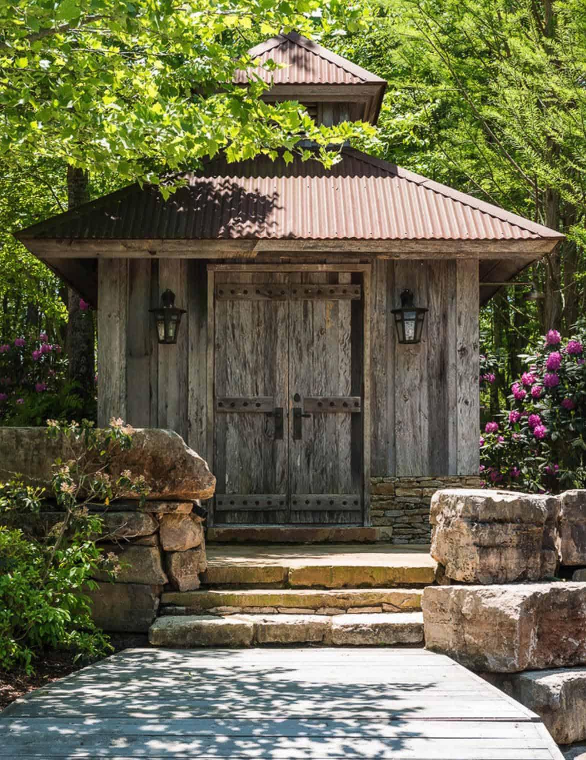 rustic-pool-house