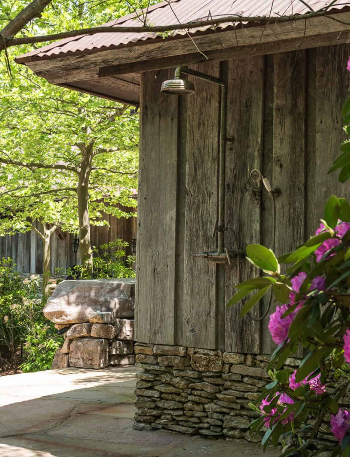 rustic-pool-house-outdoor-shower