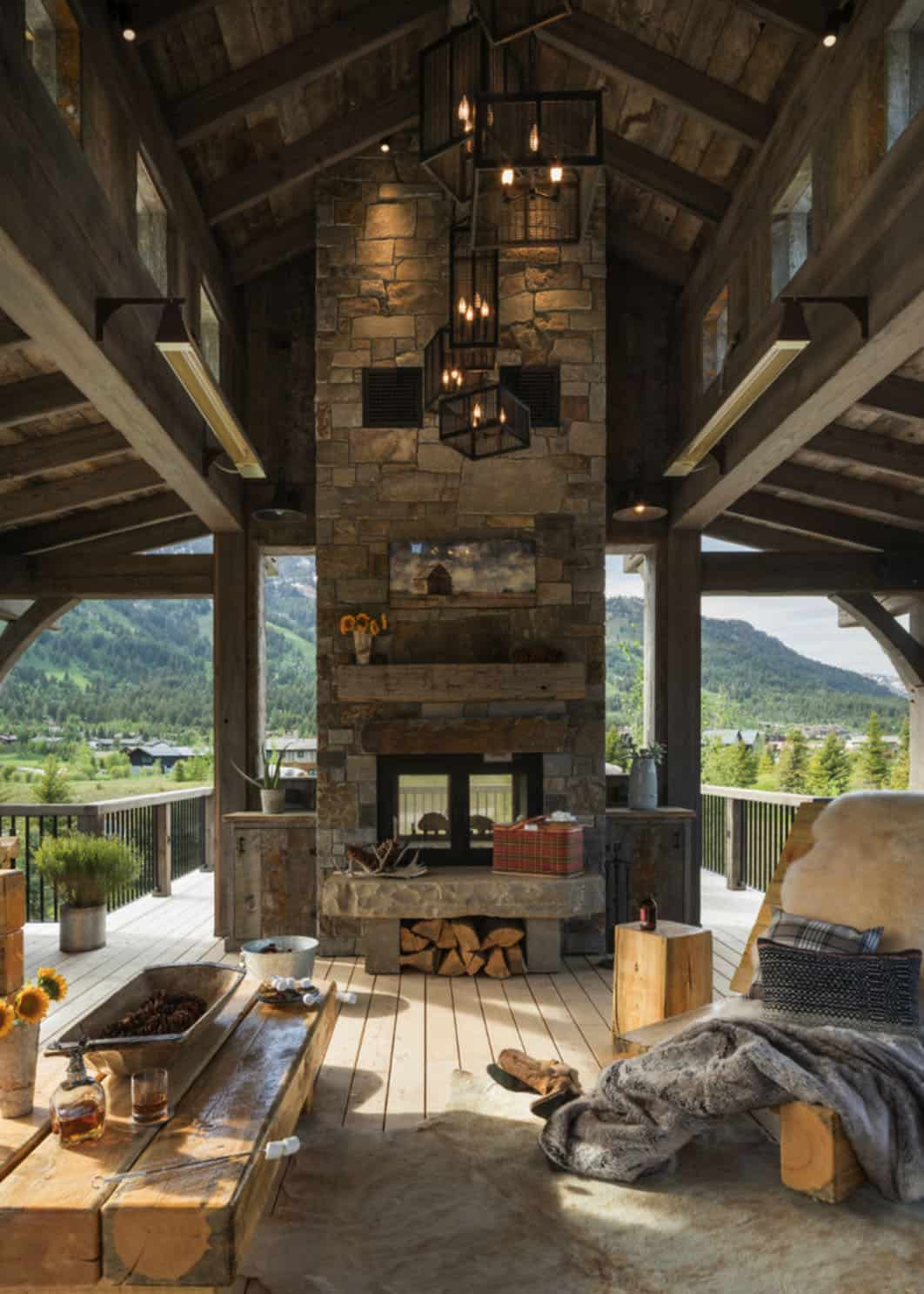 Tour this gorgeous timber and barn wood home in Jackson Hole, Wyoming