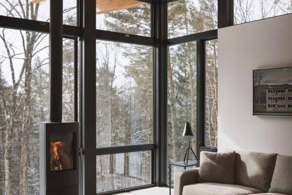 featured posts image for Compact rural cabin provides serene wooded getaway in Vermont