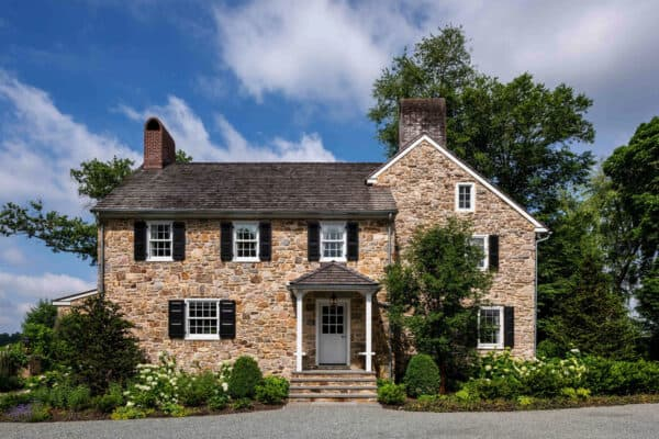 featured posts image for Delightful restoration of a brick and fieldstone farmhouse in Pennsylvania