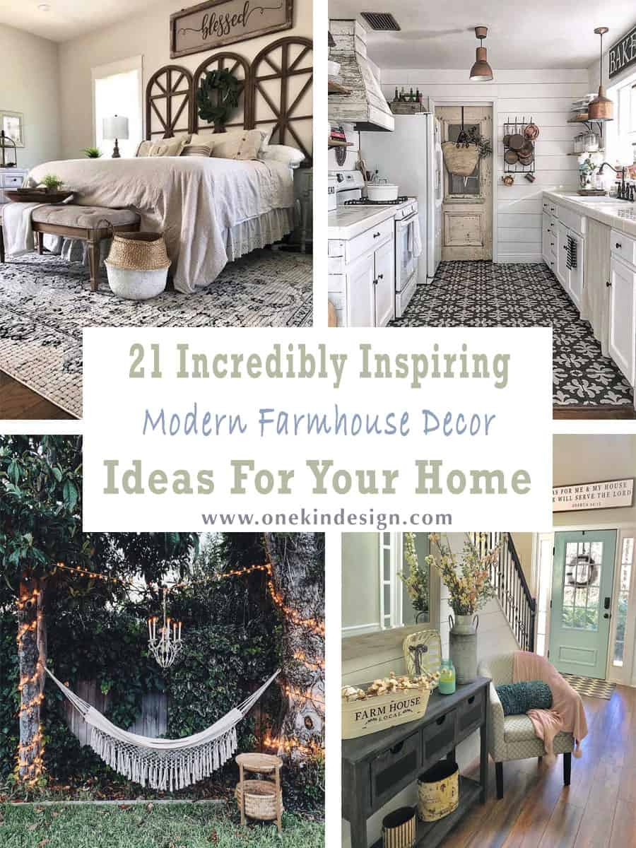 21 Incredibly Inspiring Modern Farmhouse Decor Ideas For Your Home