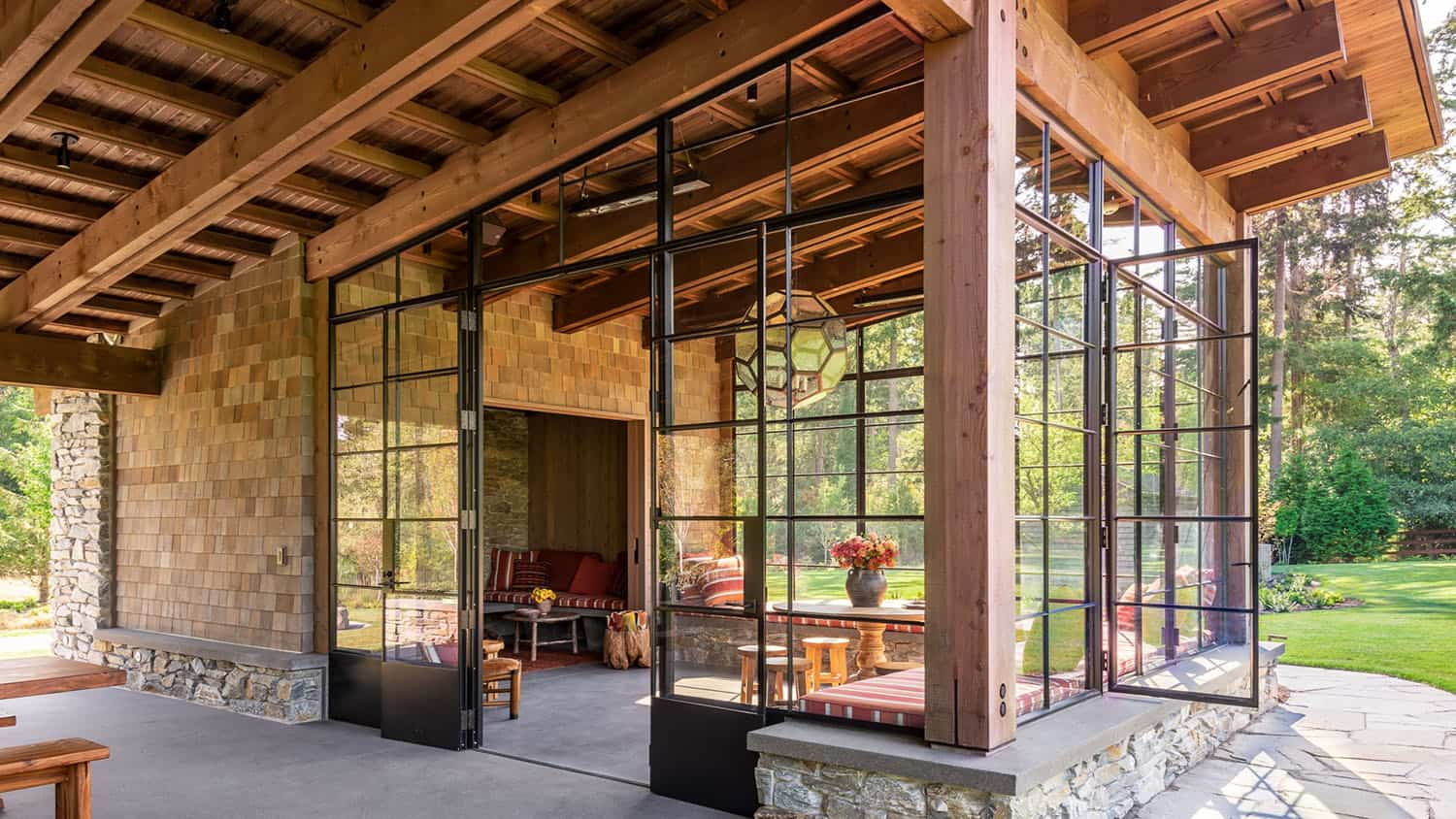 Secluded family retreat designed for entertaining on Whidbey Island