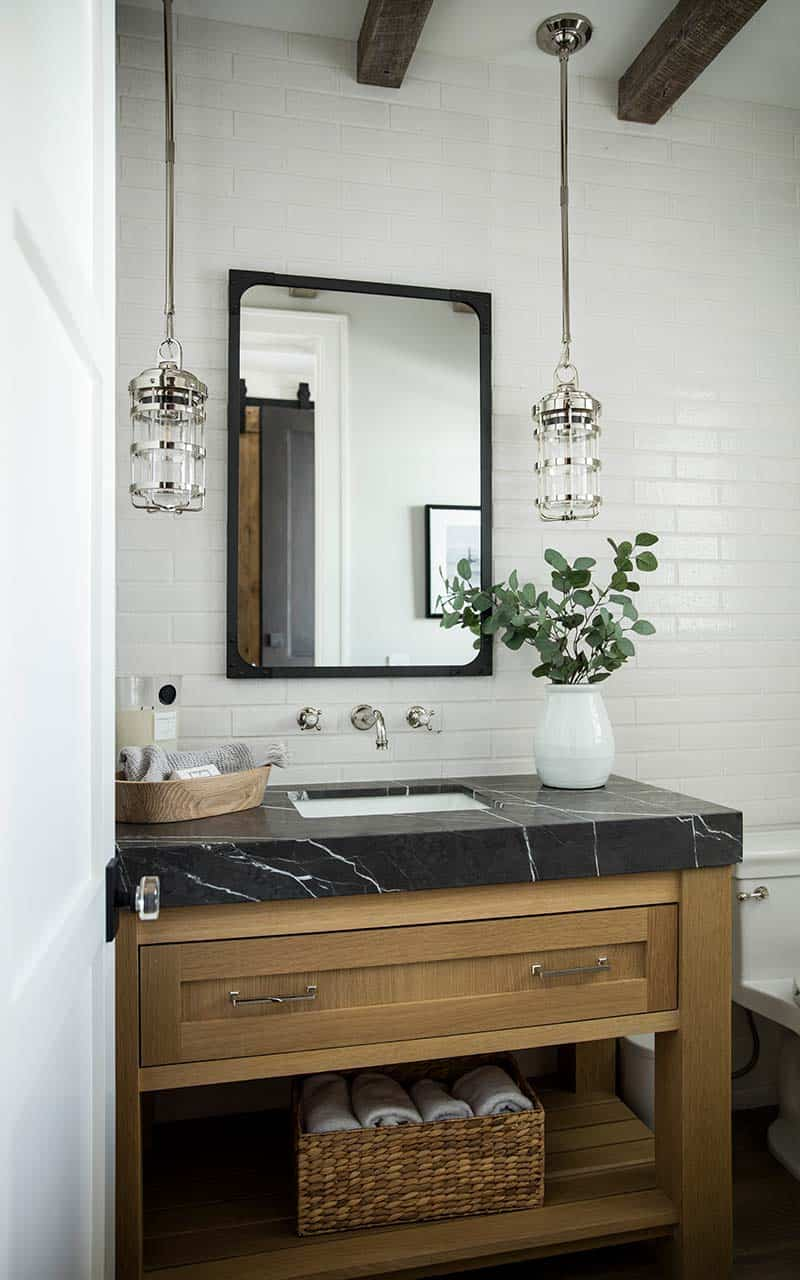 transitional-style-powder-room