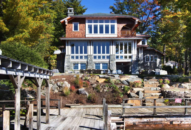 lake-house-camp-rustic-exterior