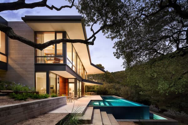 featured posts image for Striking lakefront refuge peeks above the forest canopy on Lake Austin