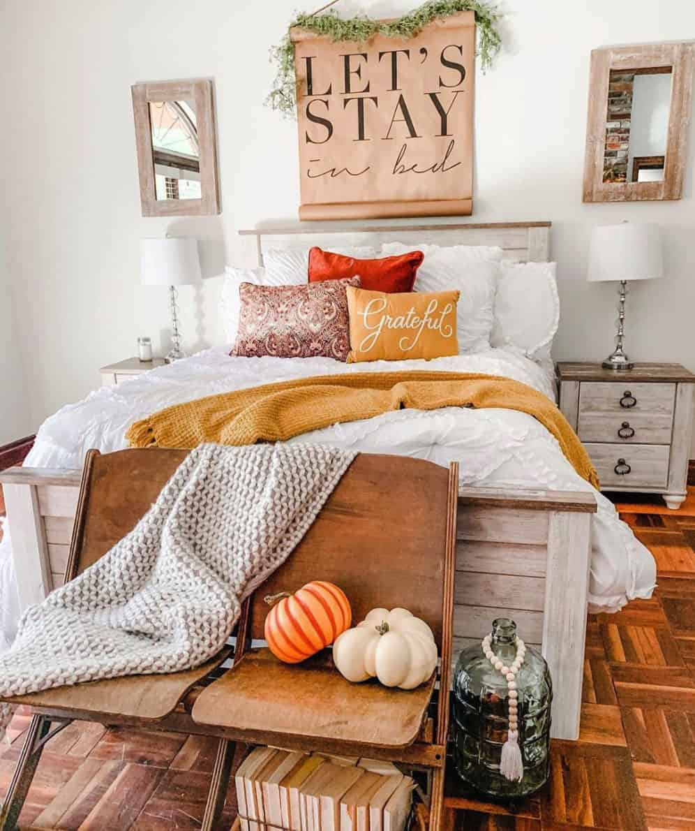19 Amazing Bedroom Ideas With Cozy Farmhouse Fall Decor Fitflopsale Singapore Info