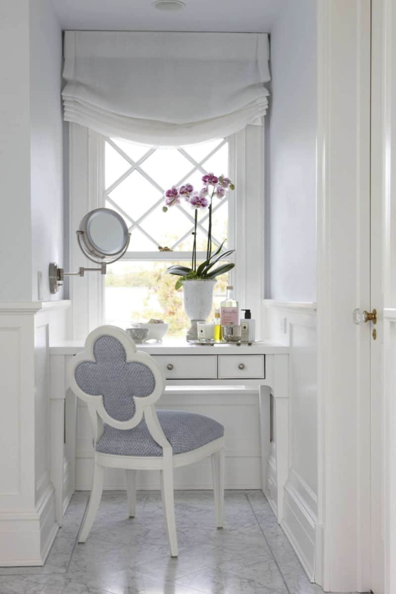 built-in-make-up-vanity-traditional-powder-room