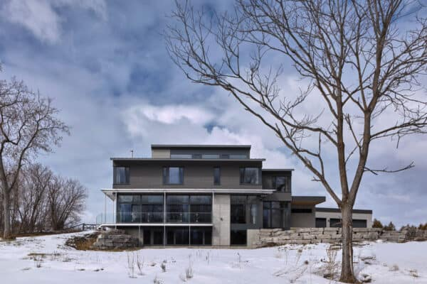 featured posts image for Clean lines define this unbelievable industrial farm house in Canada