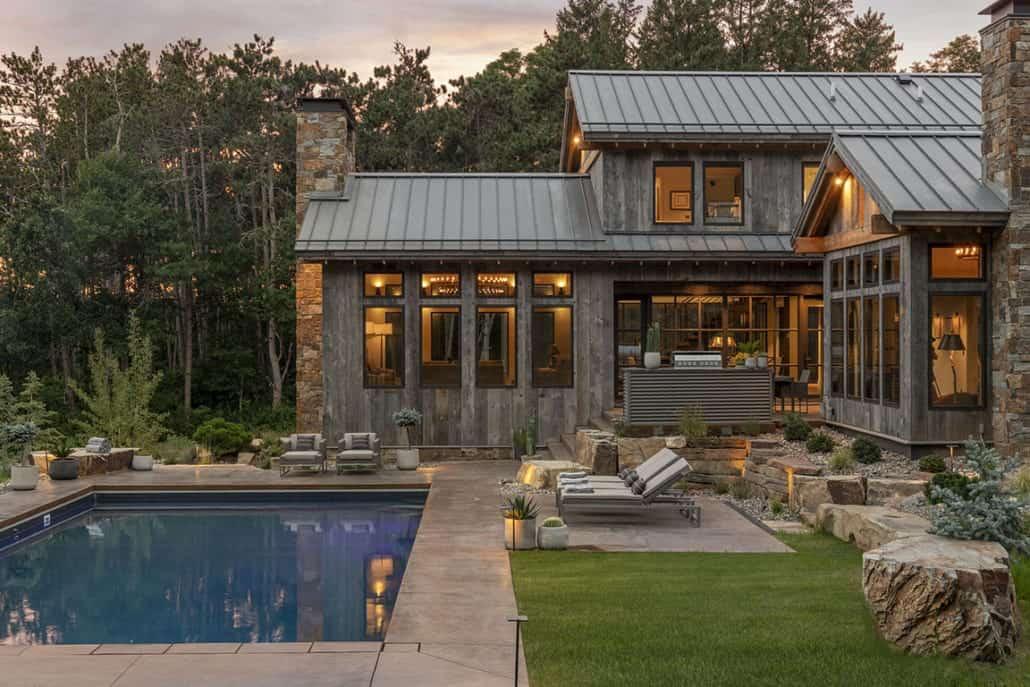 rustic-contemporary-home-exterior-pool