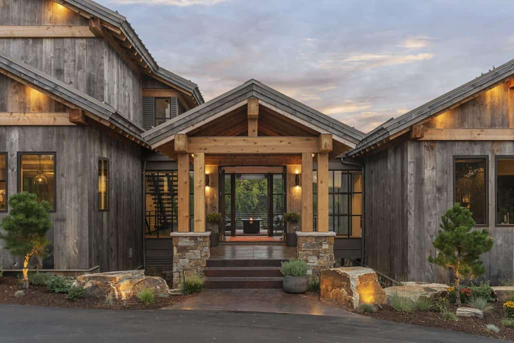 rustic-contemporary-home-entry