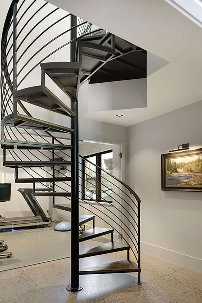 rustic-contemporary-spiral-staircase