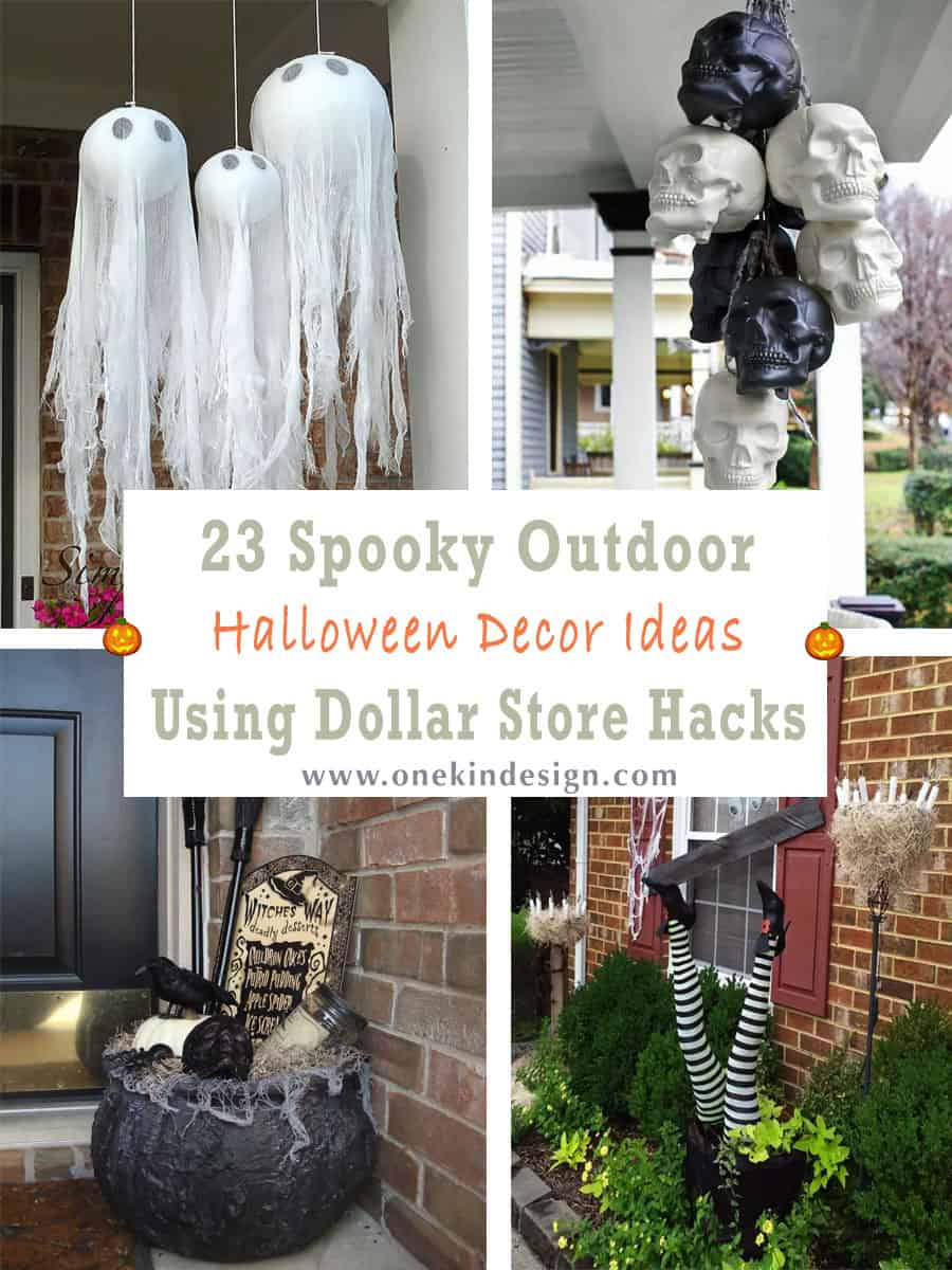 23 Spooky Outdoor Halloween Decor Ideas Using Dollar Store Hacks