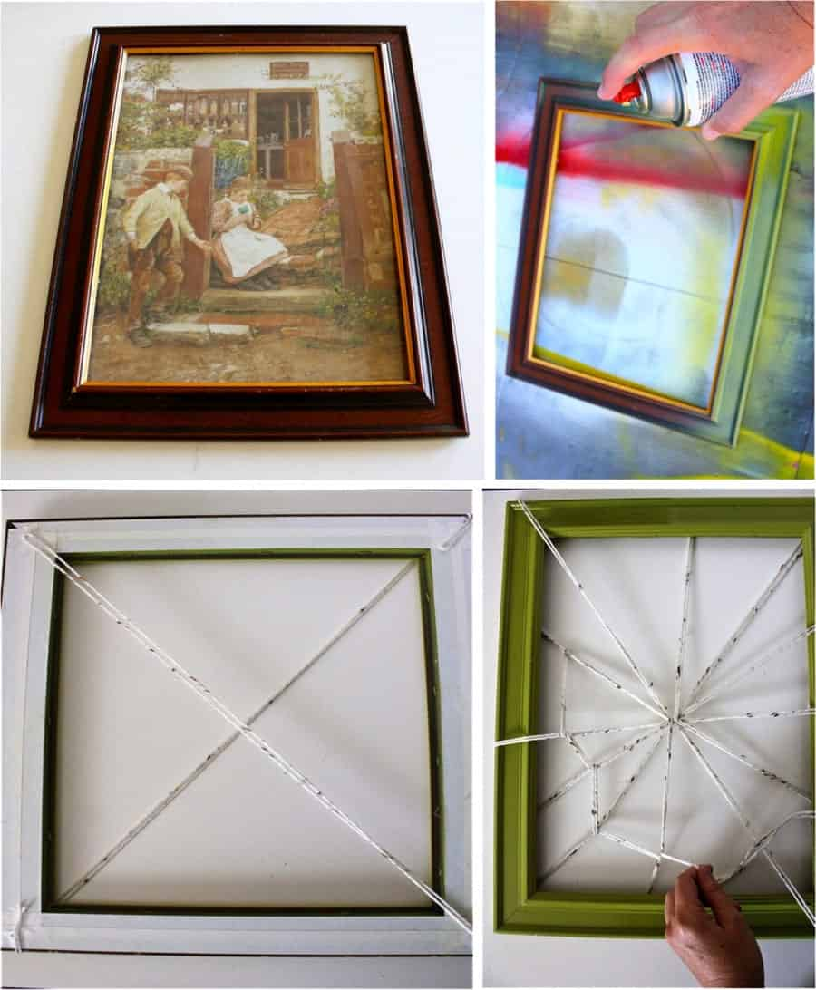 spider-web-picture-frame-door-wreath-diy-instruction