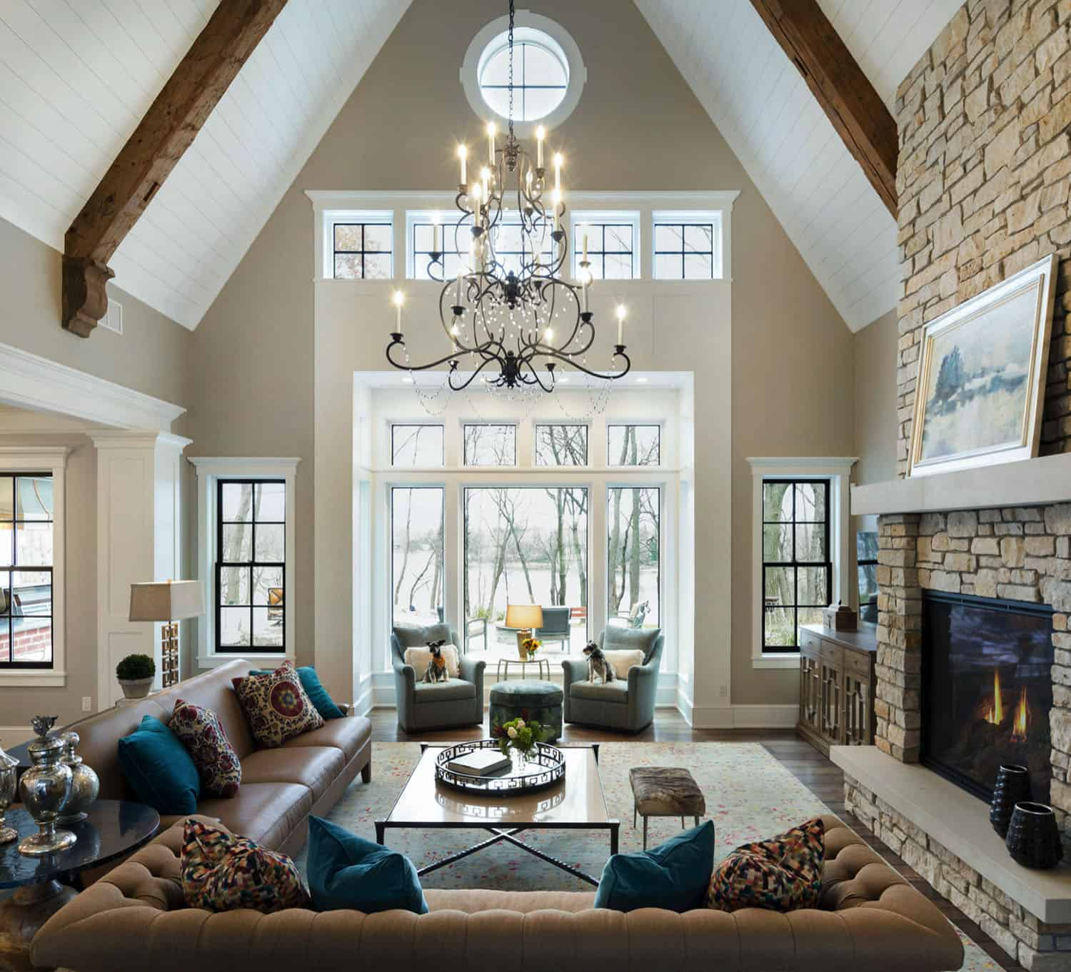Inviting lakeside home in Minnesota with sophisticated interior styling