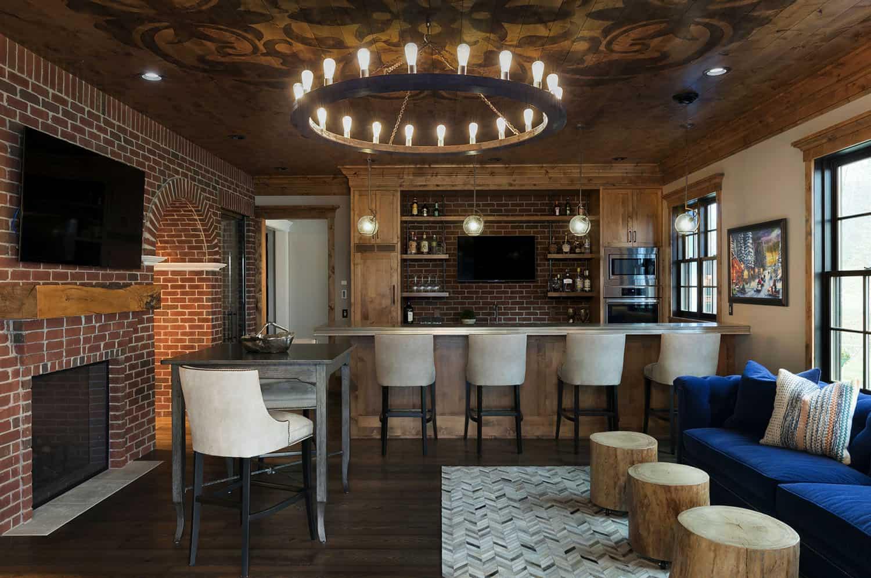 farmhouse-traditional-home-bar