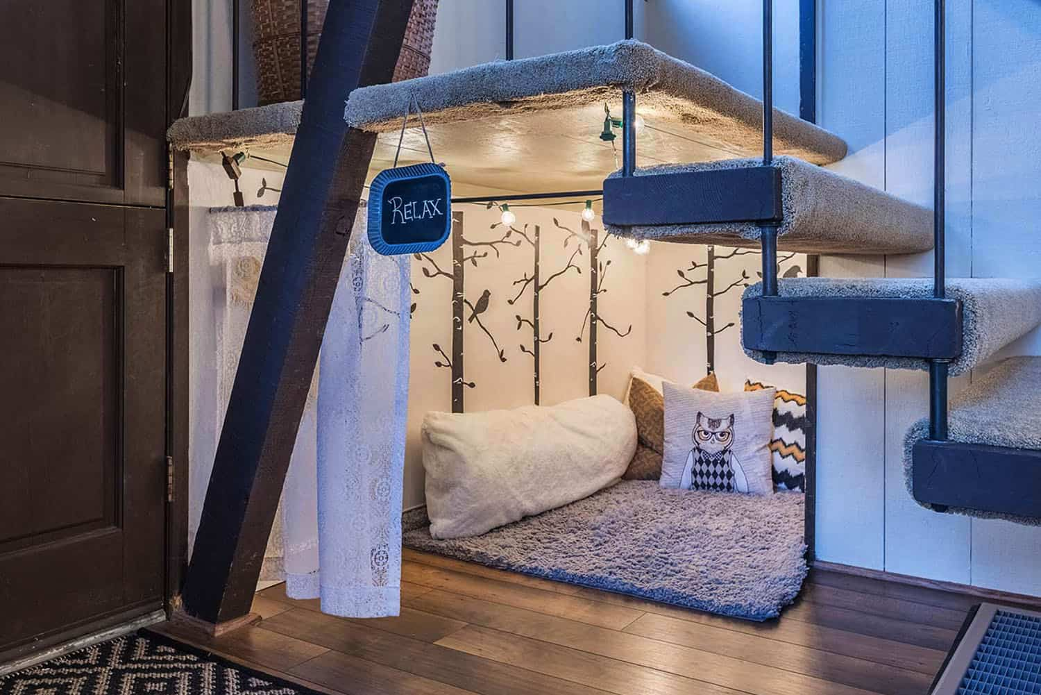 eclectic-kids-under-stairs-play-space