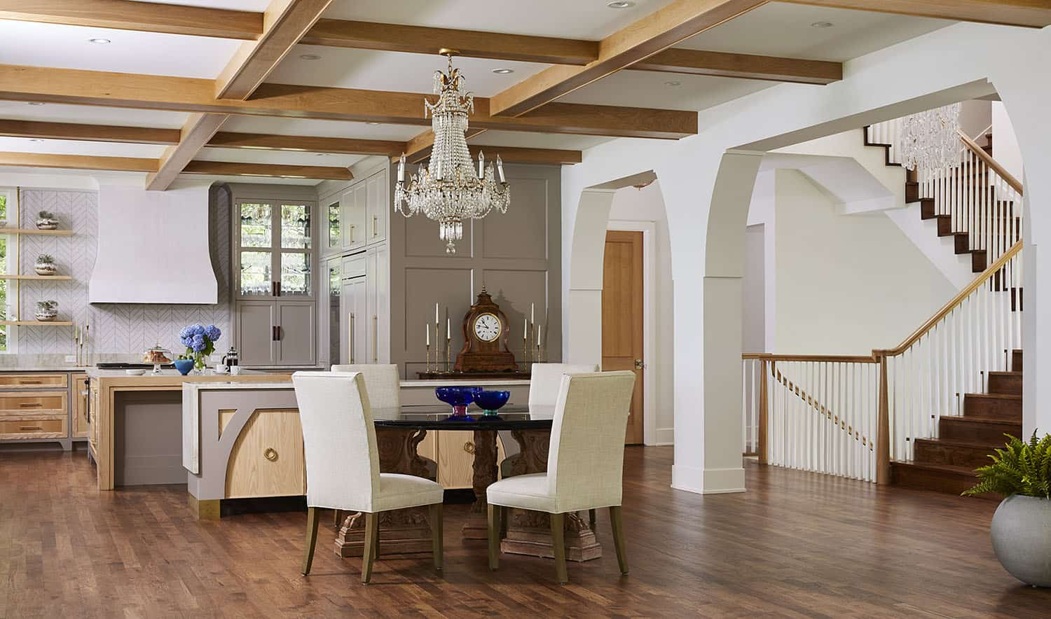 contemporary-dining-room-kitchen