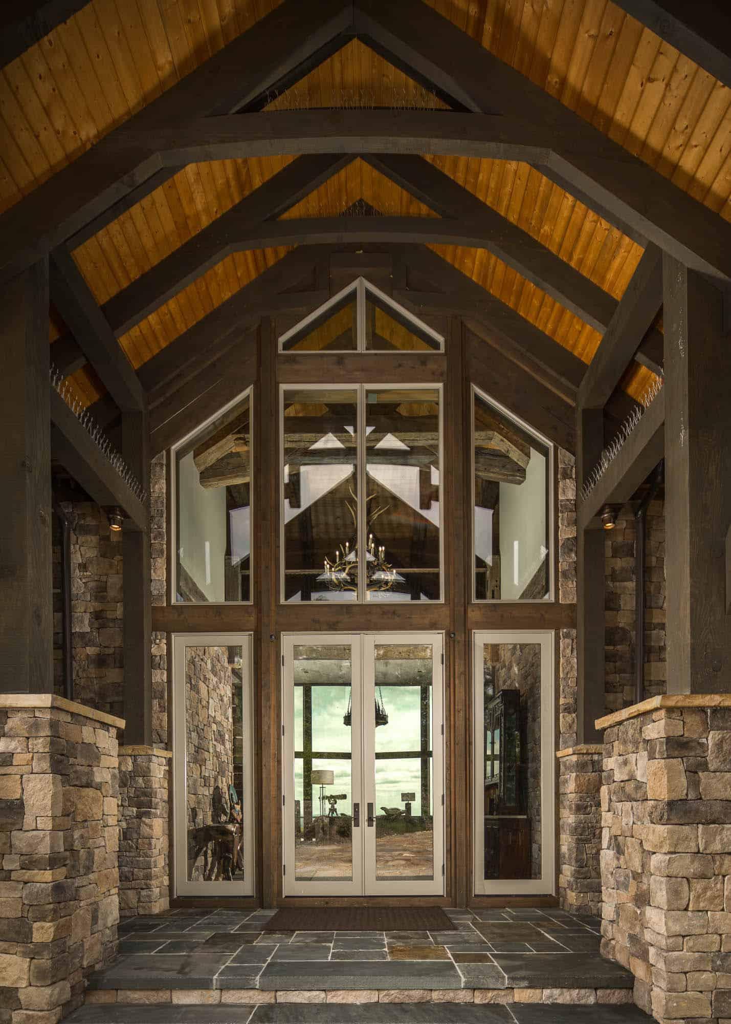 luxury-mountain-home-getaway-rustic-entry