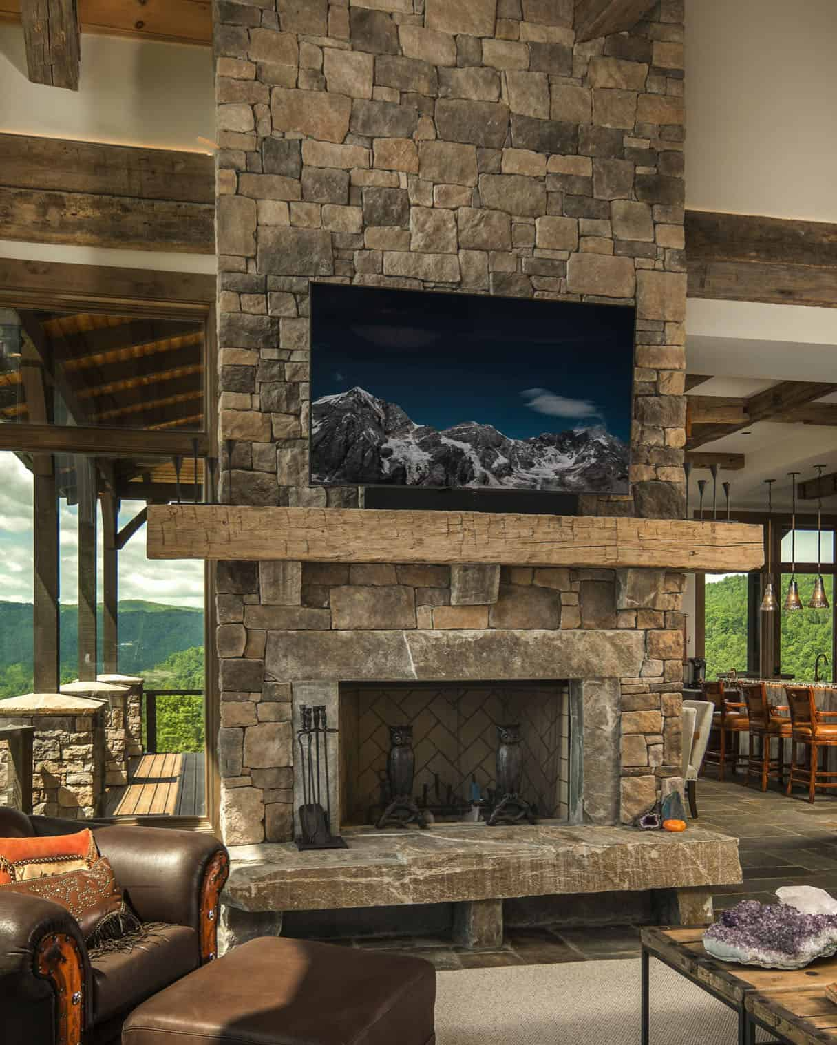 rustic-covered-porch-fireplace