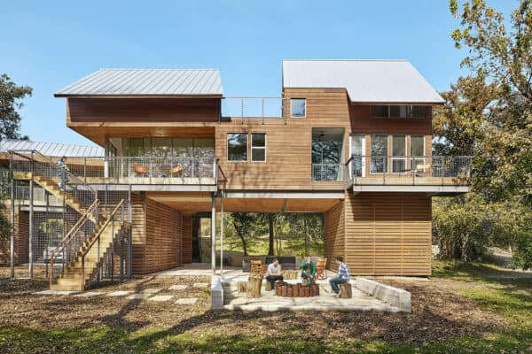 featured posts image for Texas river house with modern-rustic details designed for family getaways