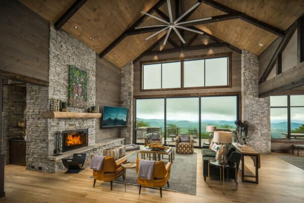 featured posts image for Modern-rustic home set amidst the breathtaking Blue Ridge Mountains