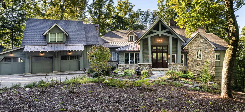 Mountain modern craftsman has serene forest backdrop in North Carolina