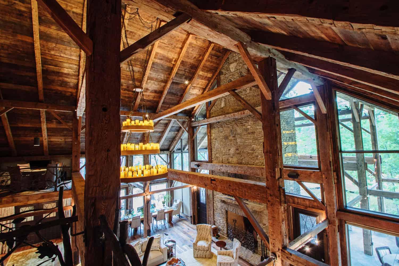view-of-rustic-living-room-below