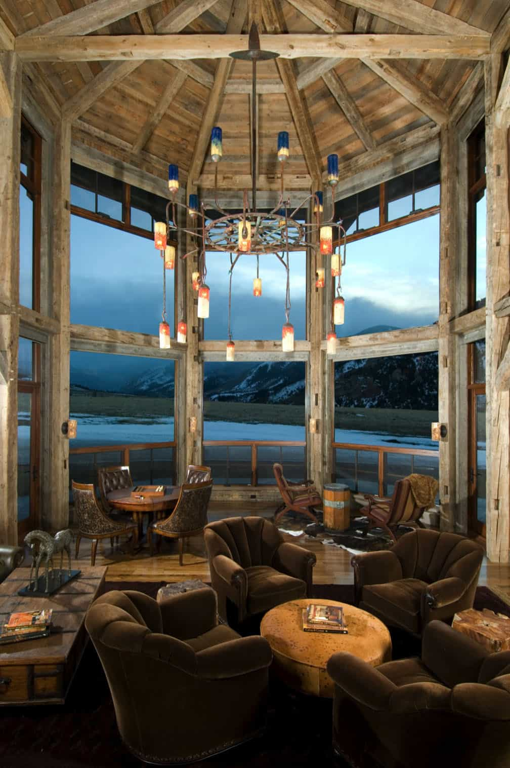 Peaceful rustic refuge nestled in majestic Beartooth Mountains, Montana
