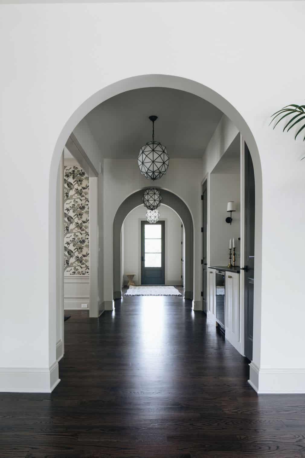 transitional-style-hallway