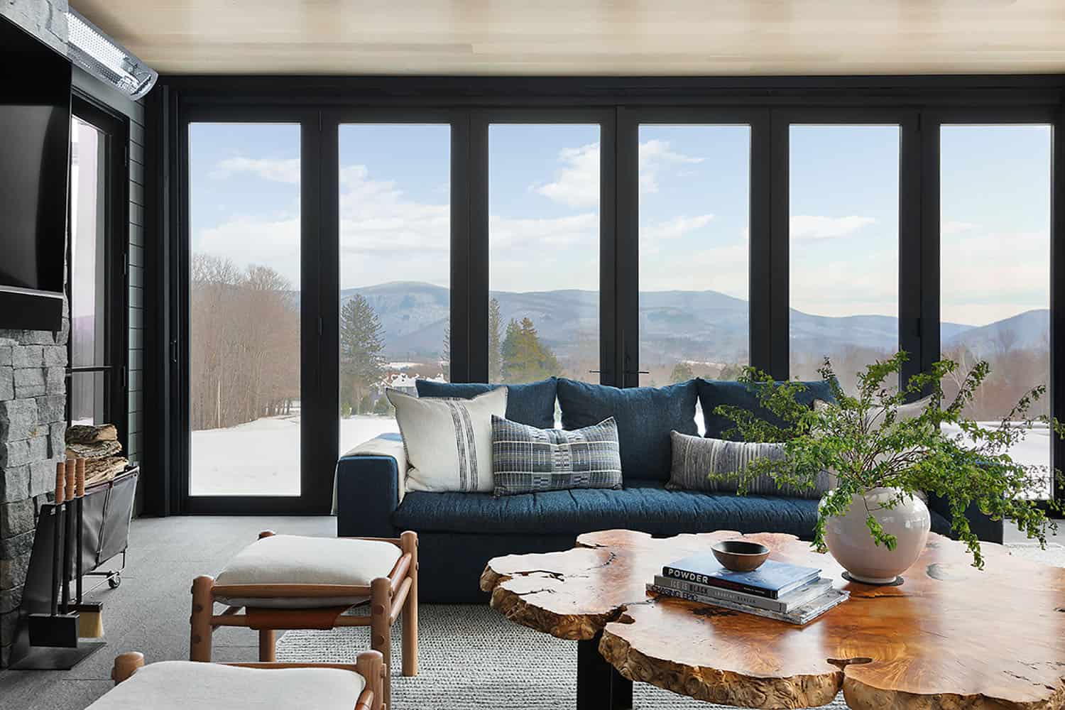 Luxurious mountainside retreat boasts breathtaking views of the Berkshires