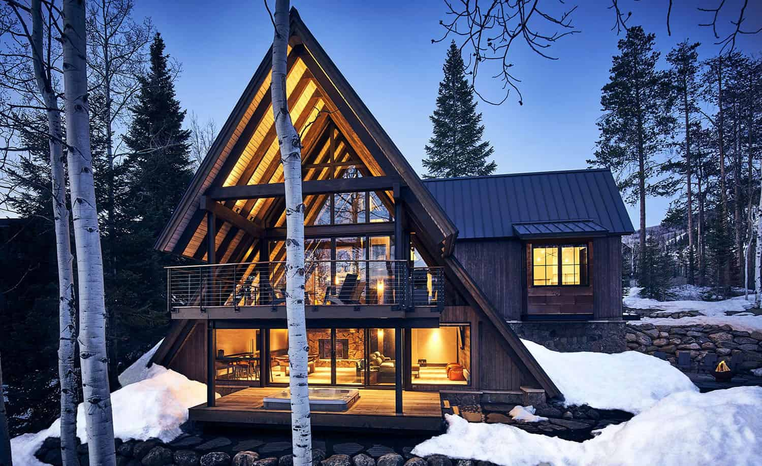 Cozy A-Frame cabin in the woods breathes new life in Steamboat Springs