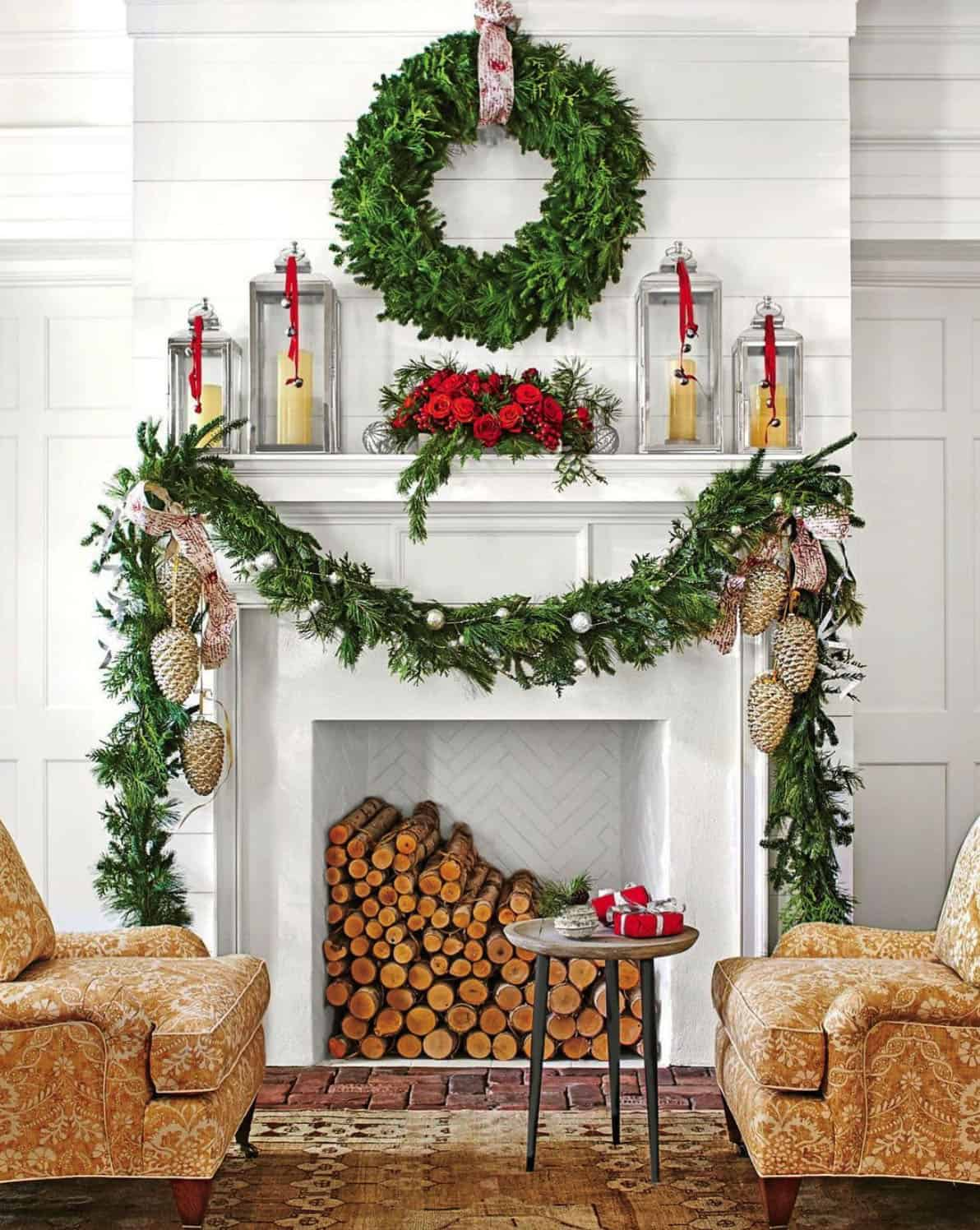 holiday-decor-ideas-faux-fireplace