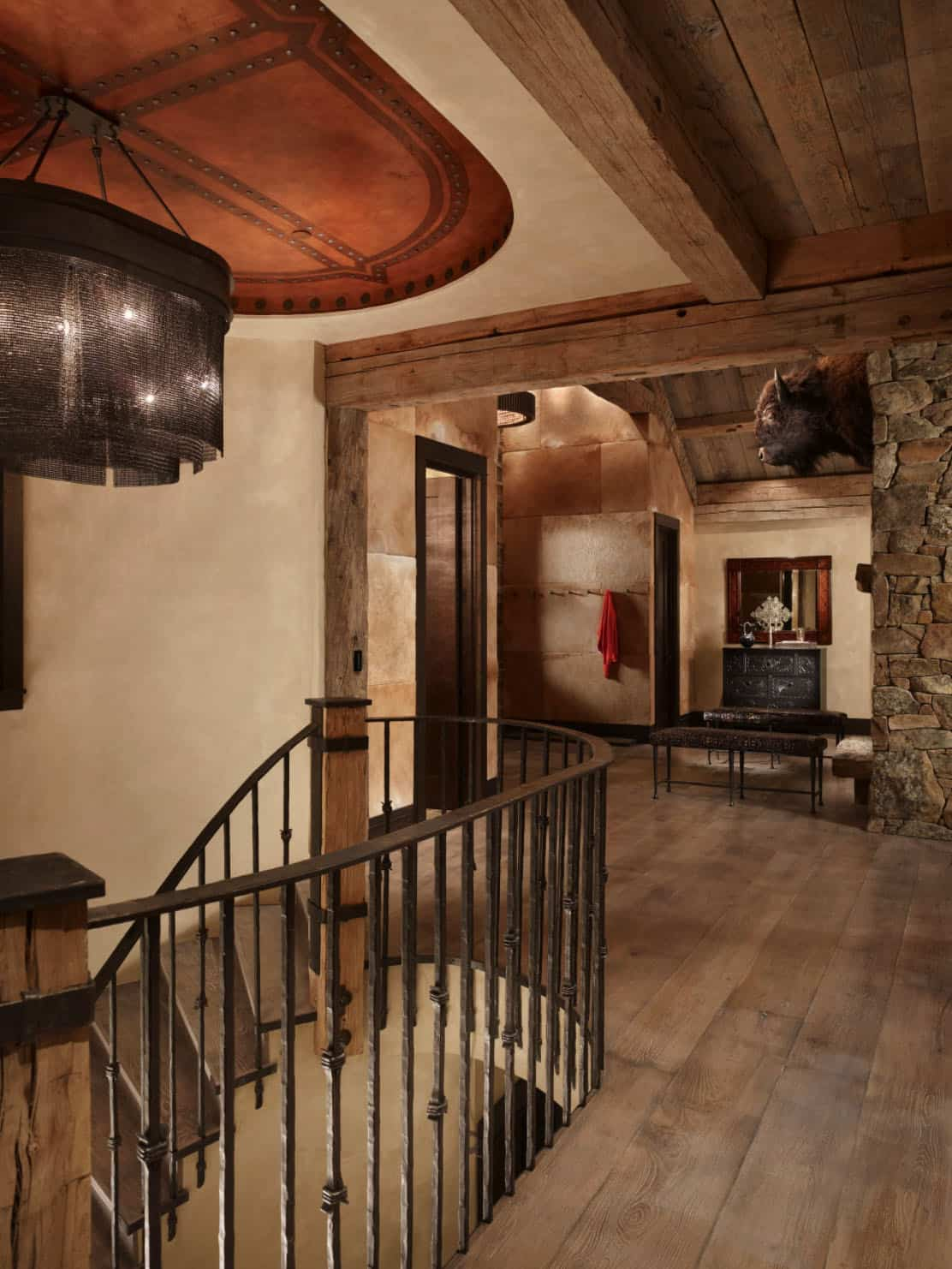 alpine-ranch-stair-rustic-entry