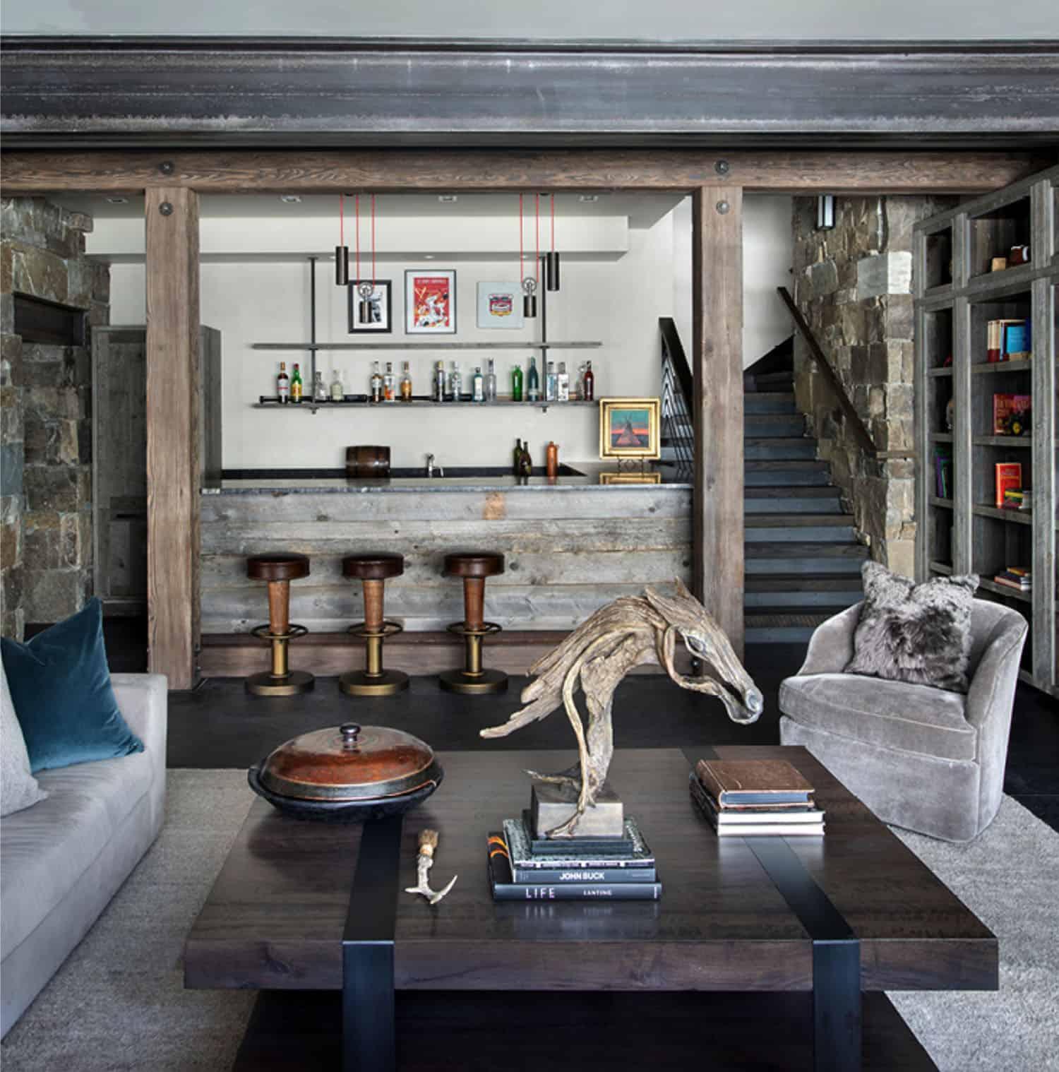 ski-home-rustic-basement-family-room-bar