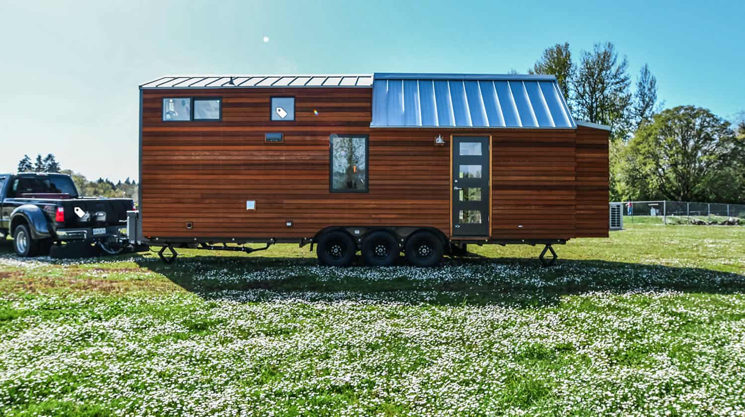 This fabulous off-grid tiny home on wheels can be taken anywhere