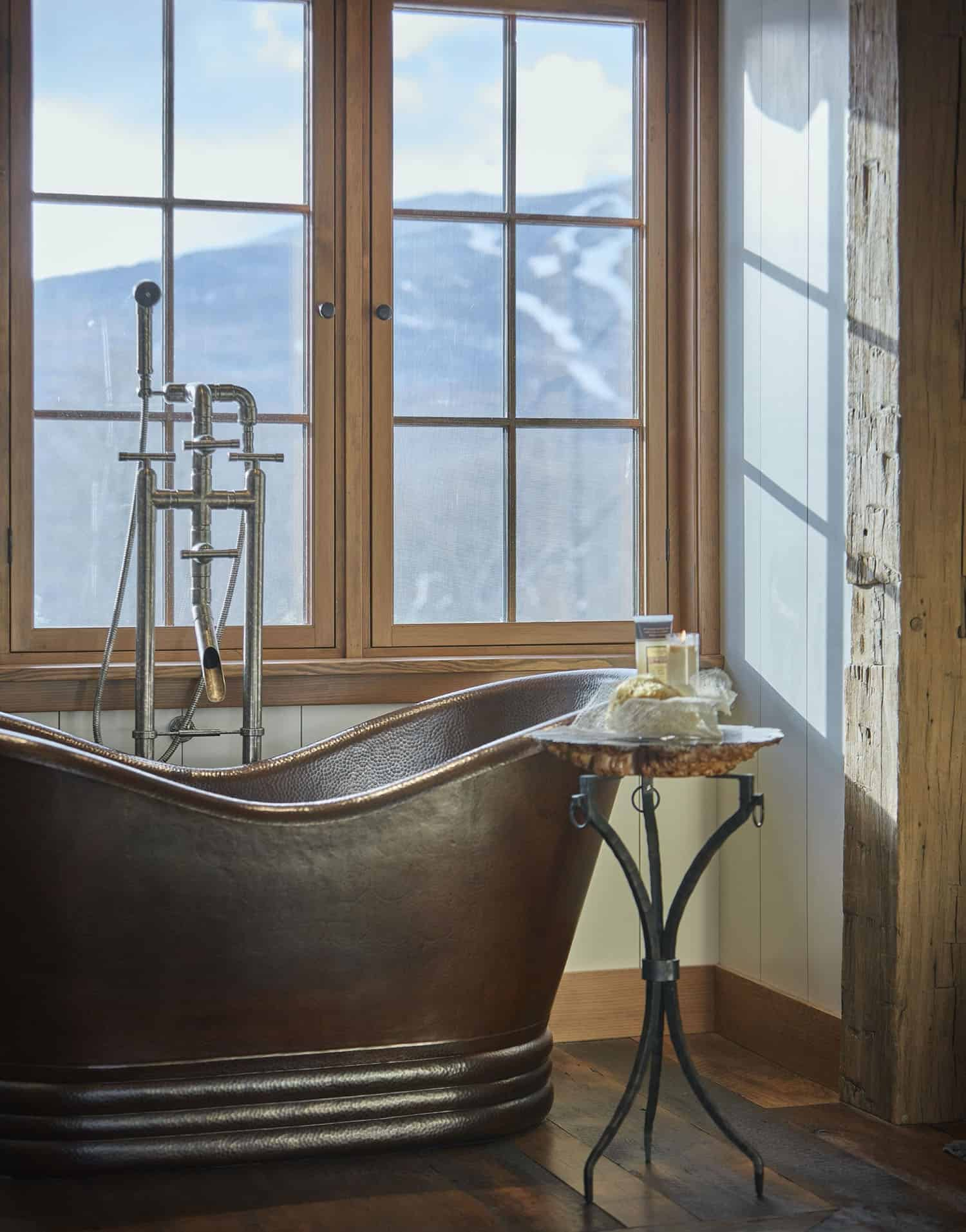 rustic-master-bathroom-copper-tub