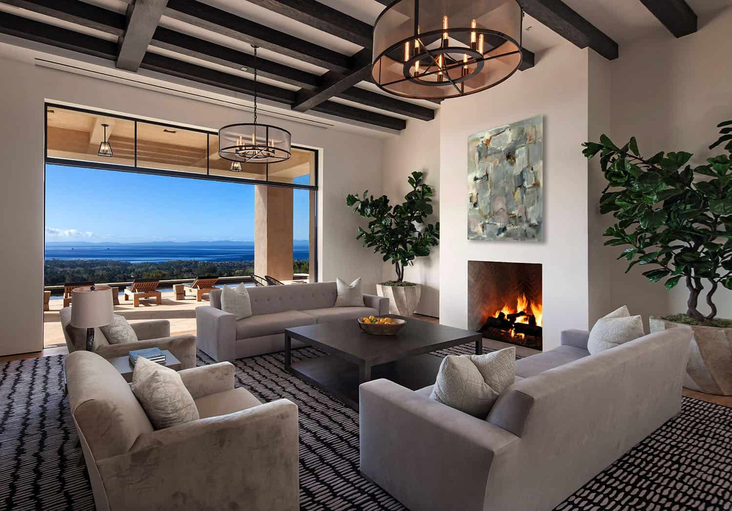 Luxury hilltop residence embraces scenic landscape in Santa Barbara