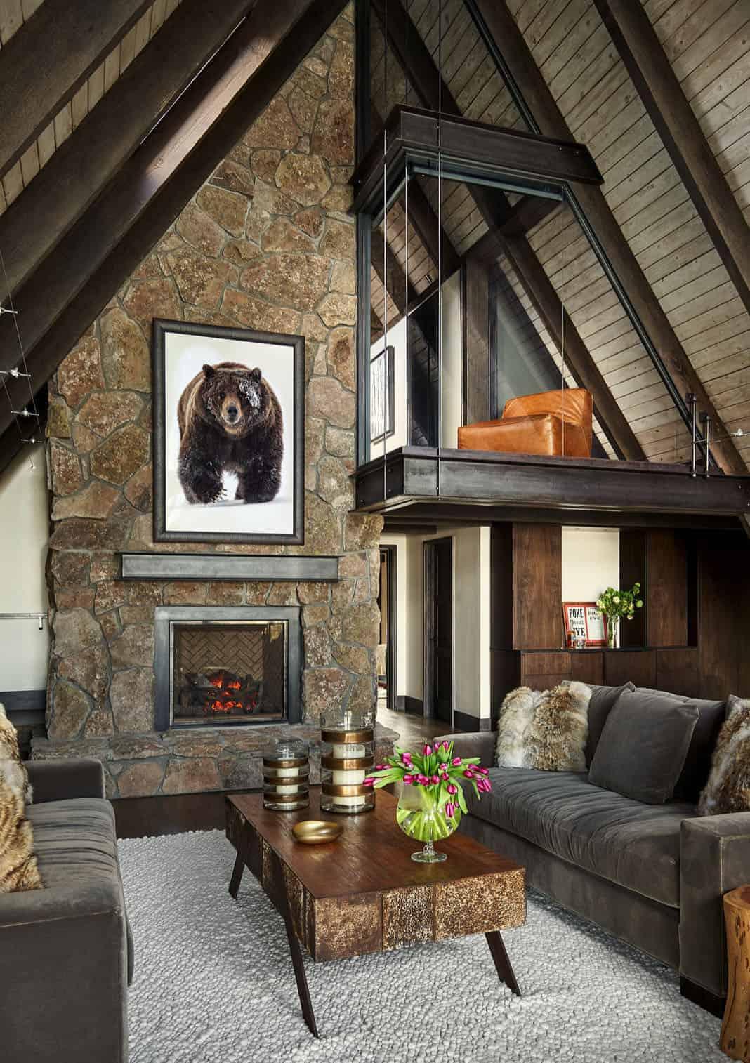 a-frame-cabin-living-room