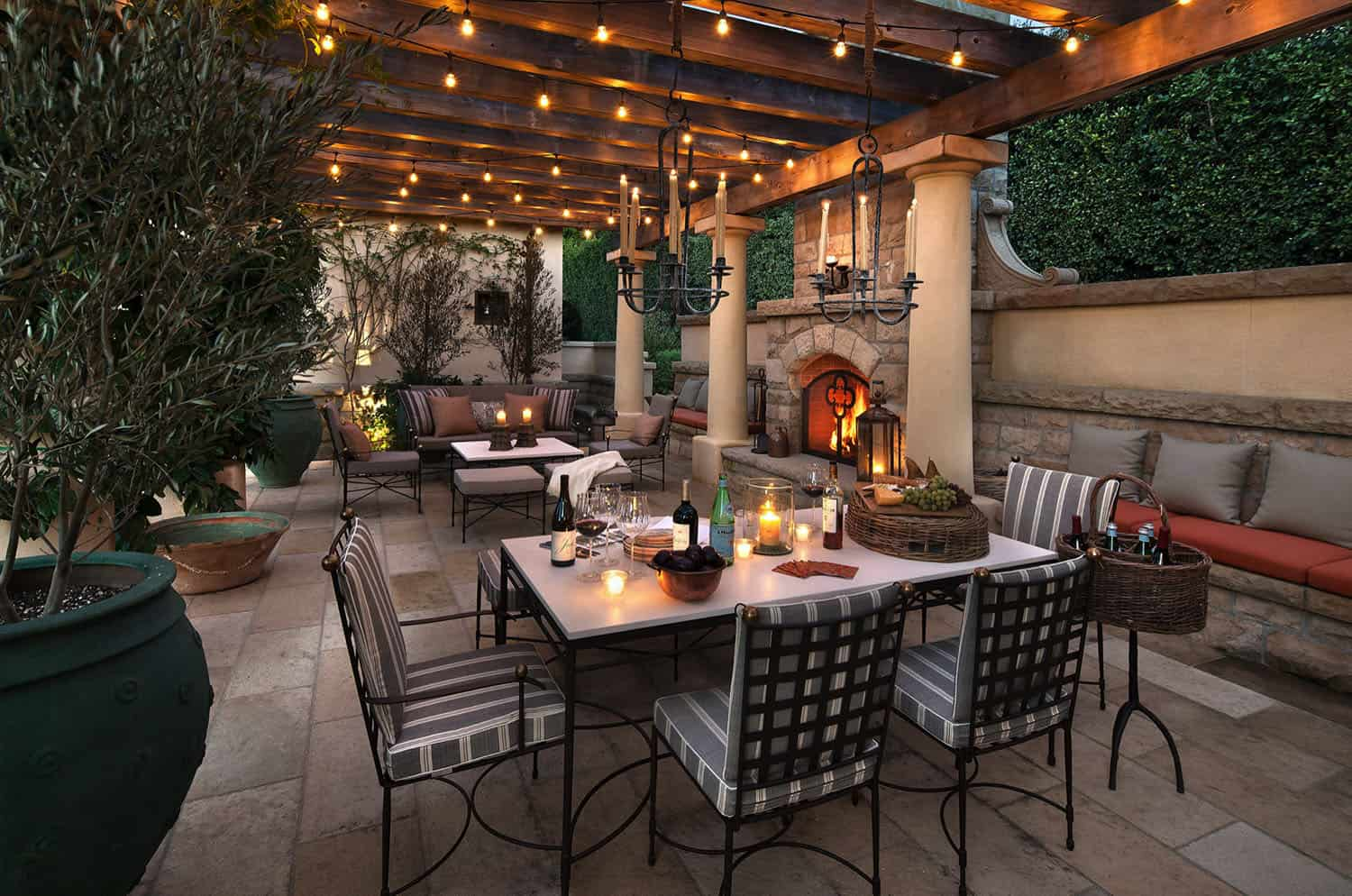 mediterranean-patio-dining-area-and-fireplace