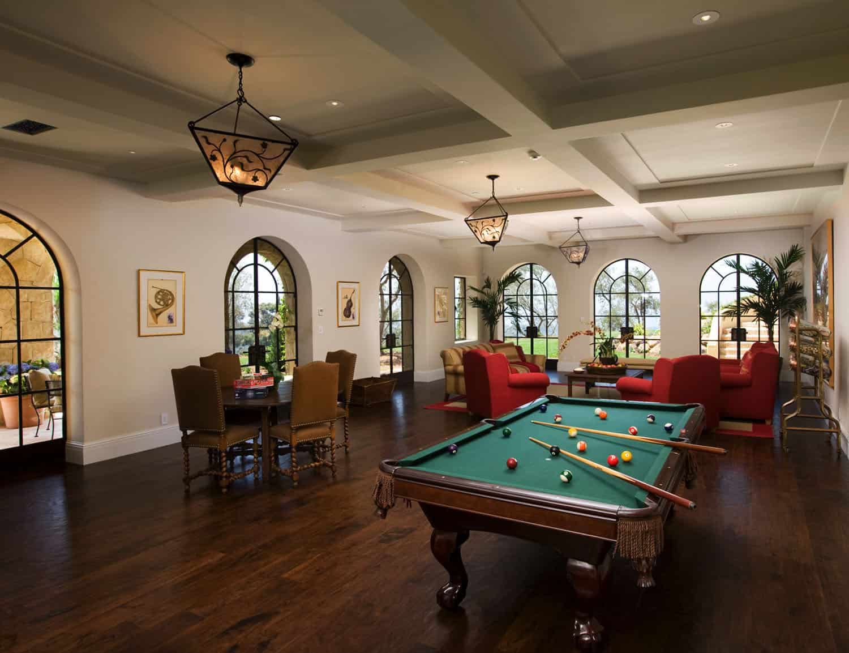 mediterranean-style-billiard-room