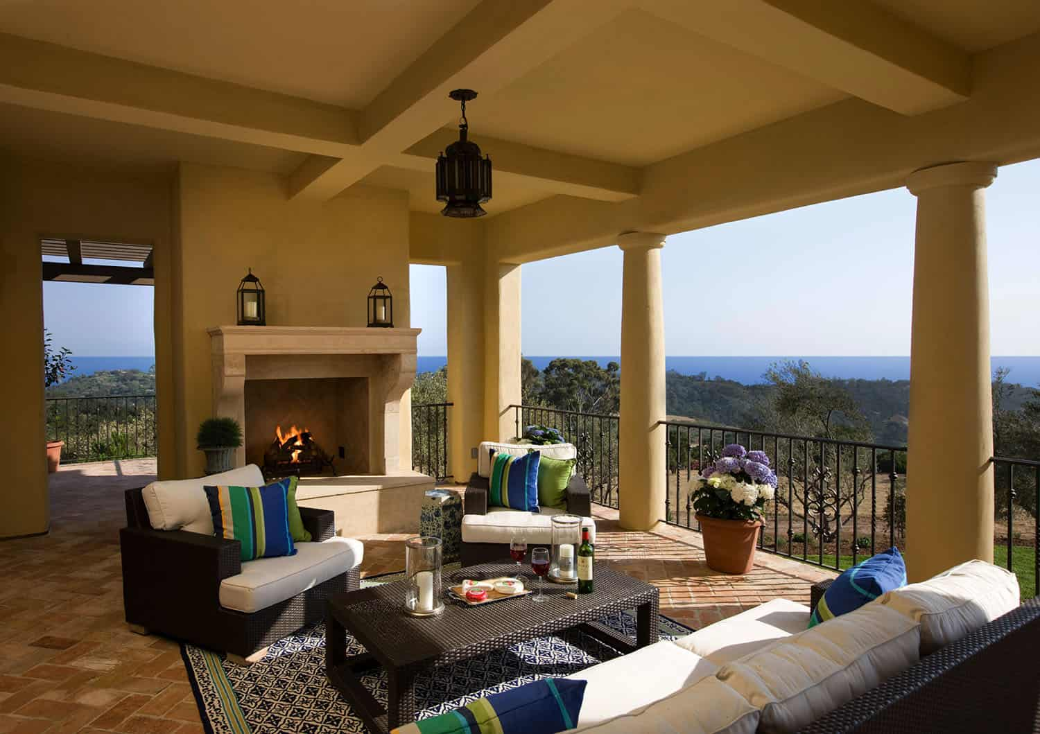 mediterranean-style-loggia-with-fireplace