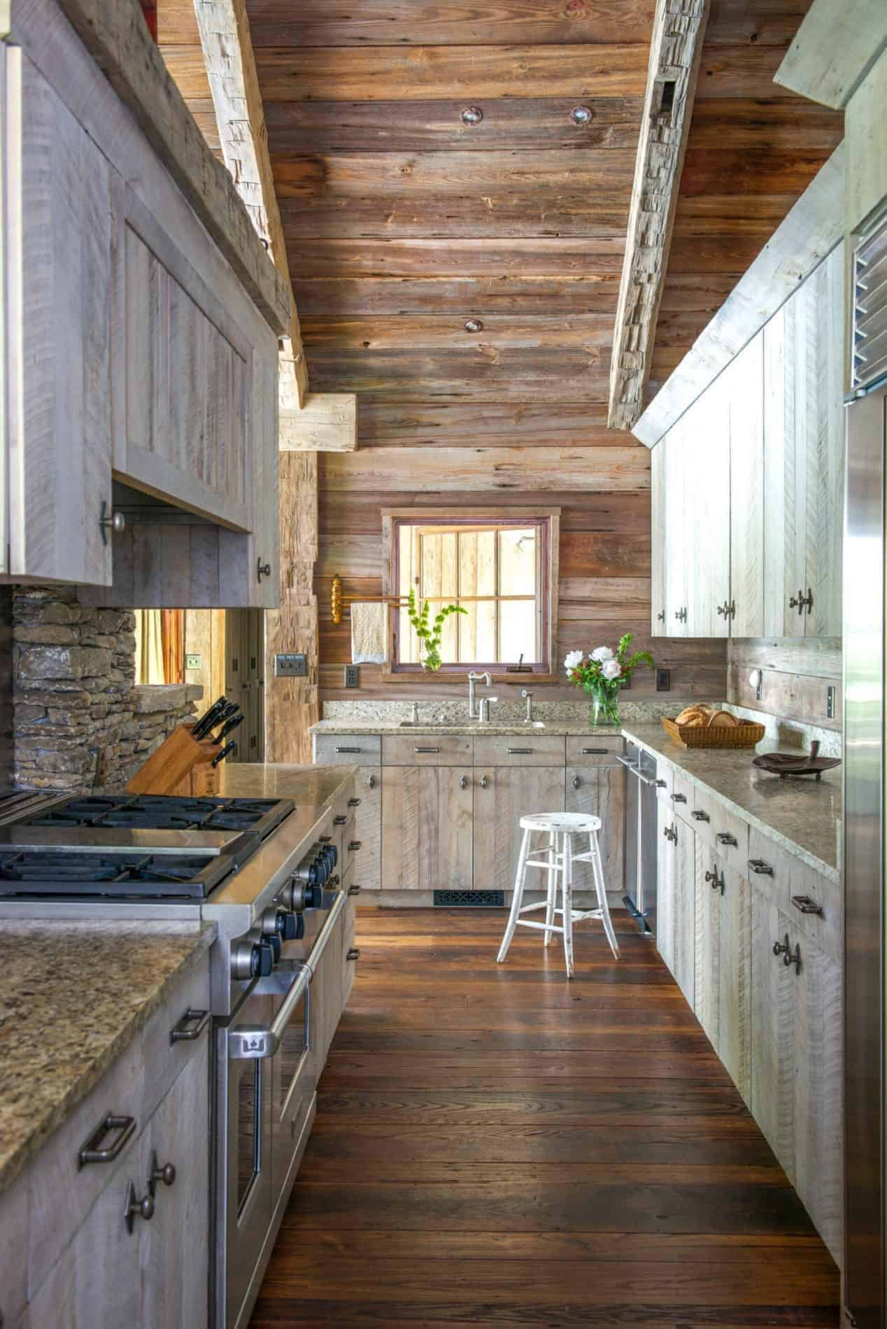 rustikalno-jezero-kuća-kuhinja