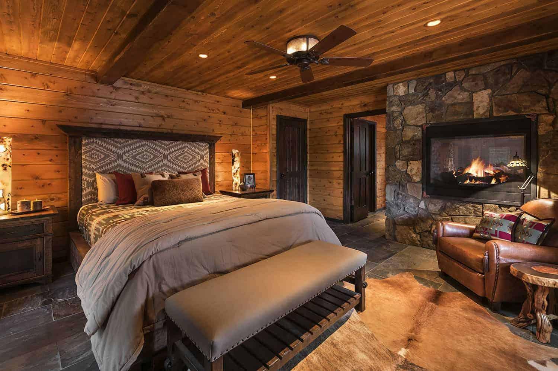 rustic-mountain-cabin-bedroom