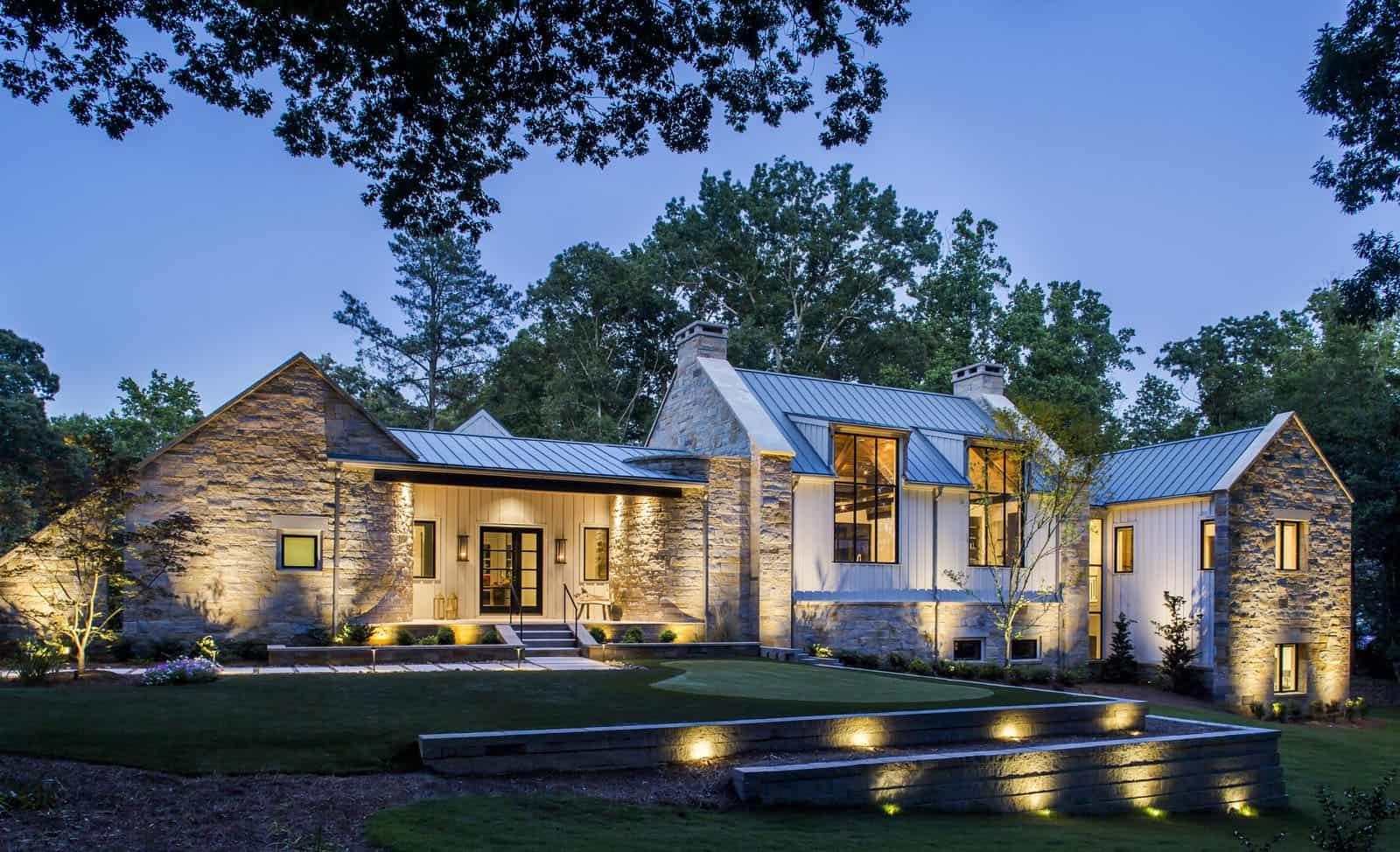 modern-farmhouse-exterior-night-view