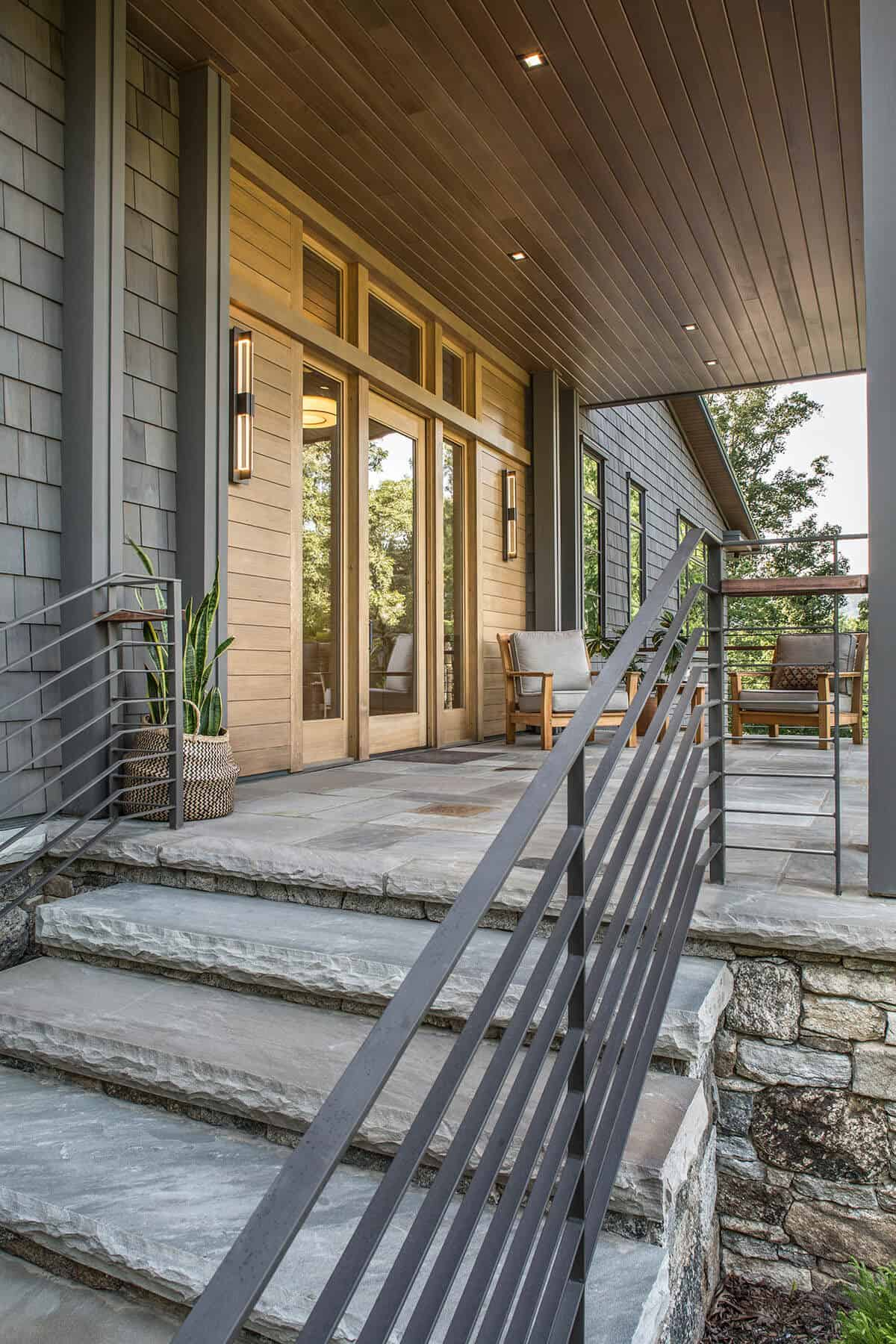 transitional-porch-entry