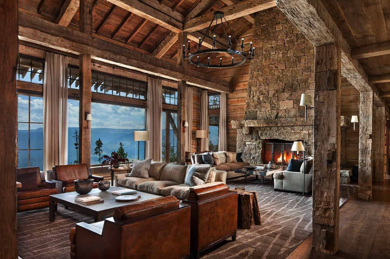 rustic-mountain-living-room