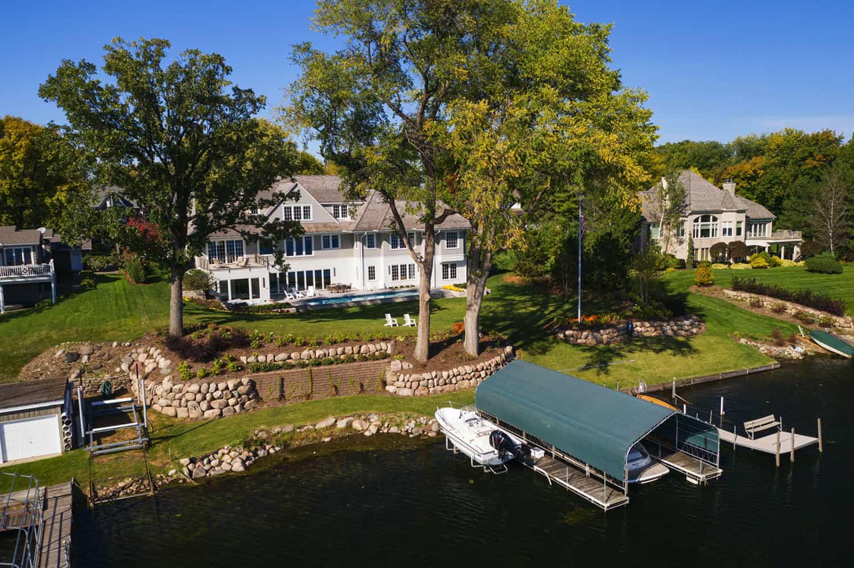 jezero-kuća-vanjski-pogled iz zraka